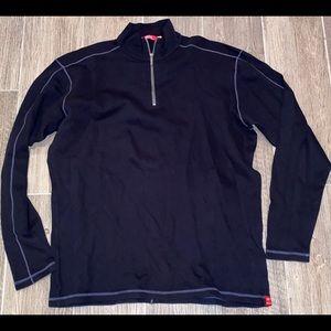 Men AGAVE 1/4 Zip Contrast Stitch Pullover NWOT L